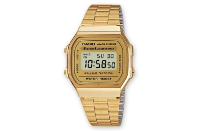 casio gold tone watch