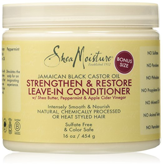 hair treatment best products damaged colored dry castor oil shea butter leave-in conditioner