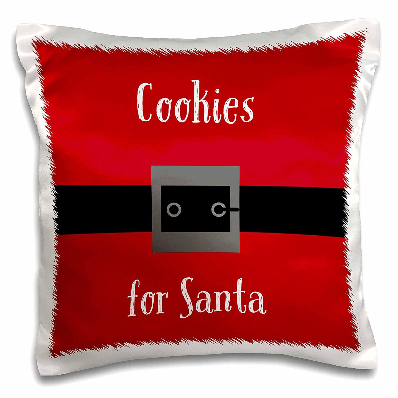 3D Rose Cookies for Santa Pillow Case
