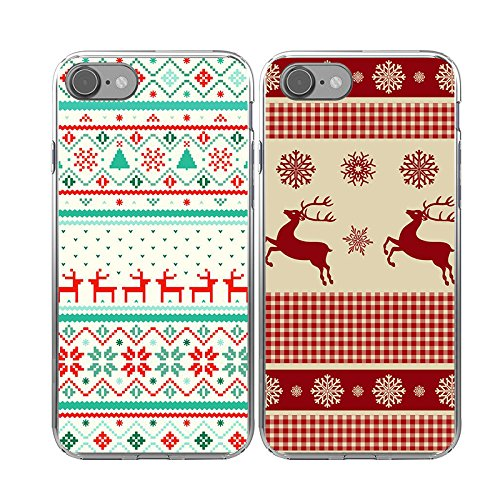 Christmas phone case best iphone 7 two pack
