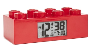 lego alarm clock red brick