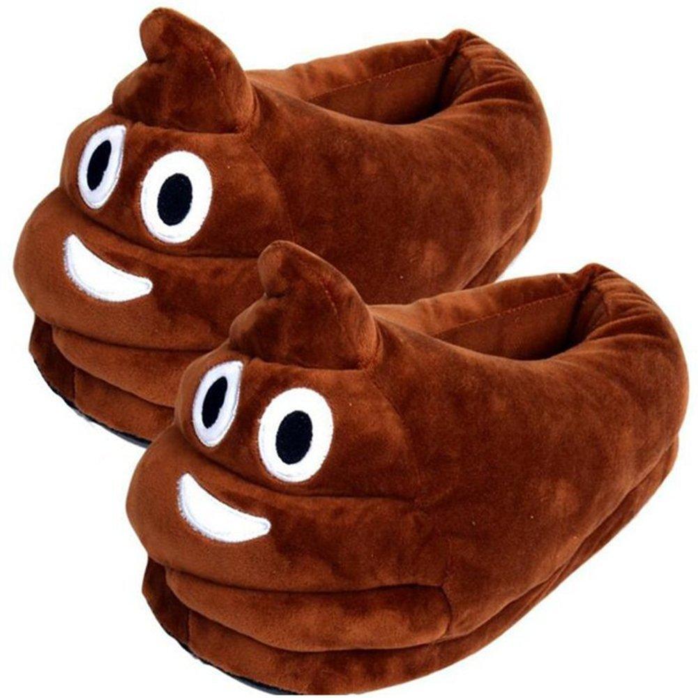 funny slippers under $20 cheap warm feet poop emoji