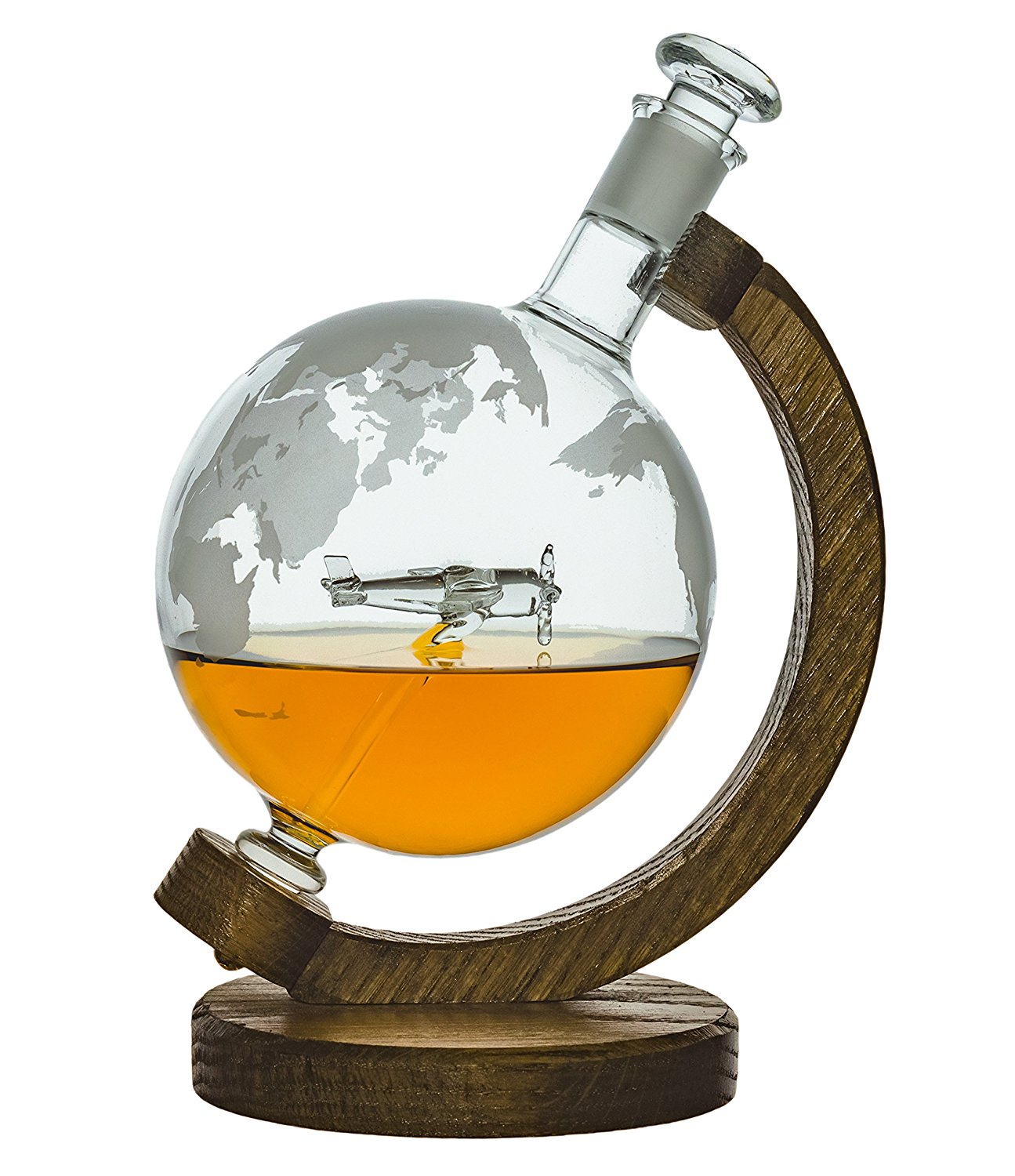etched globe