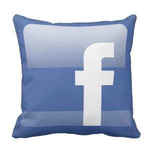 Facebook Throw Pillow by Zazzle