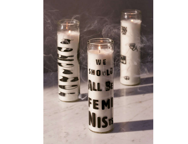 Feminist Pillar Candles