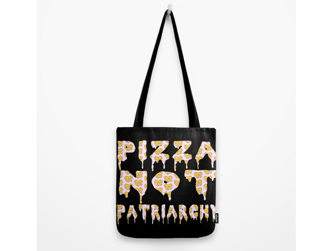 Pizza Not Patriarchy Bag