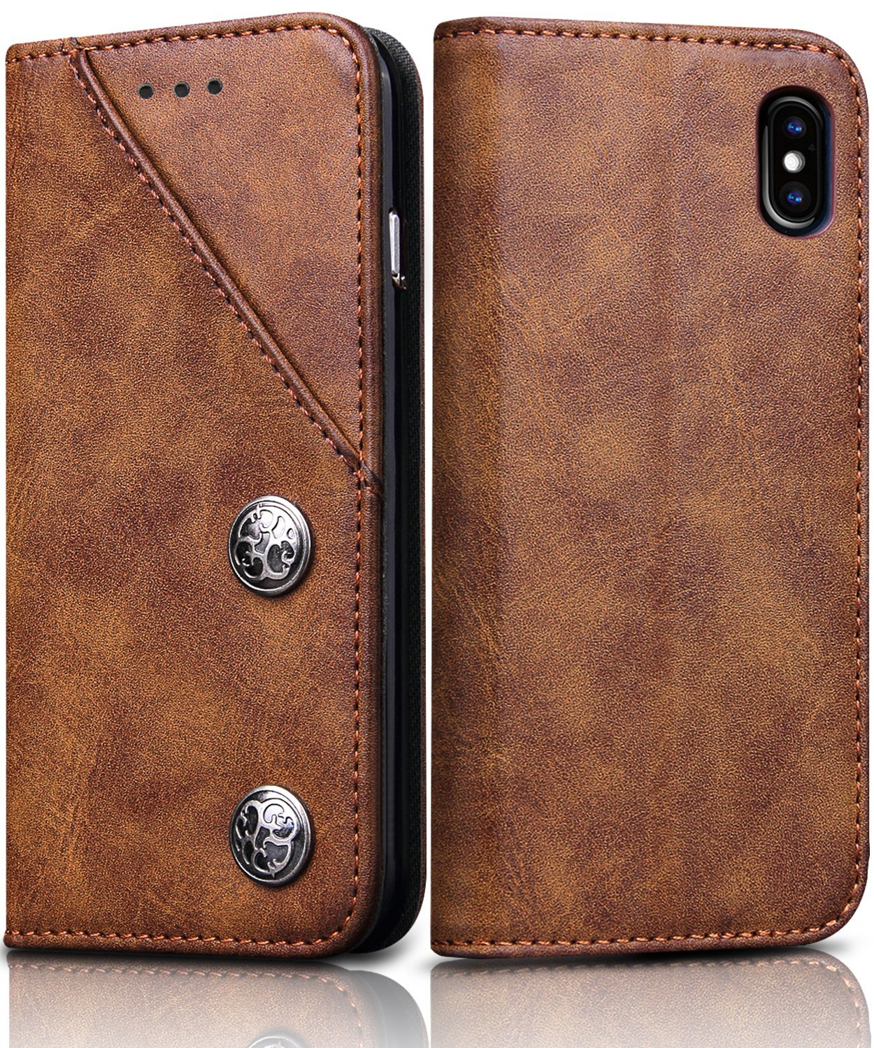 iPhone X cases 6 best leather phone kick stand wallet