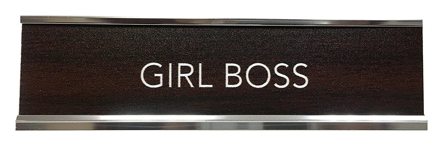 desk accessories best new year resolutions girl boss name plate