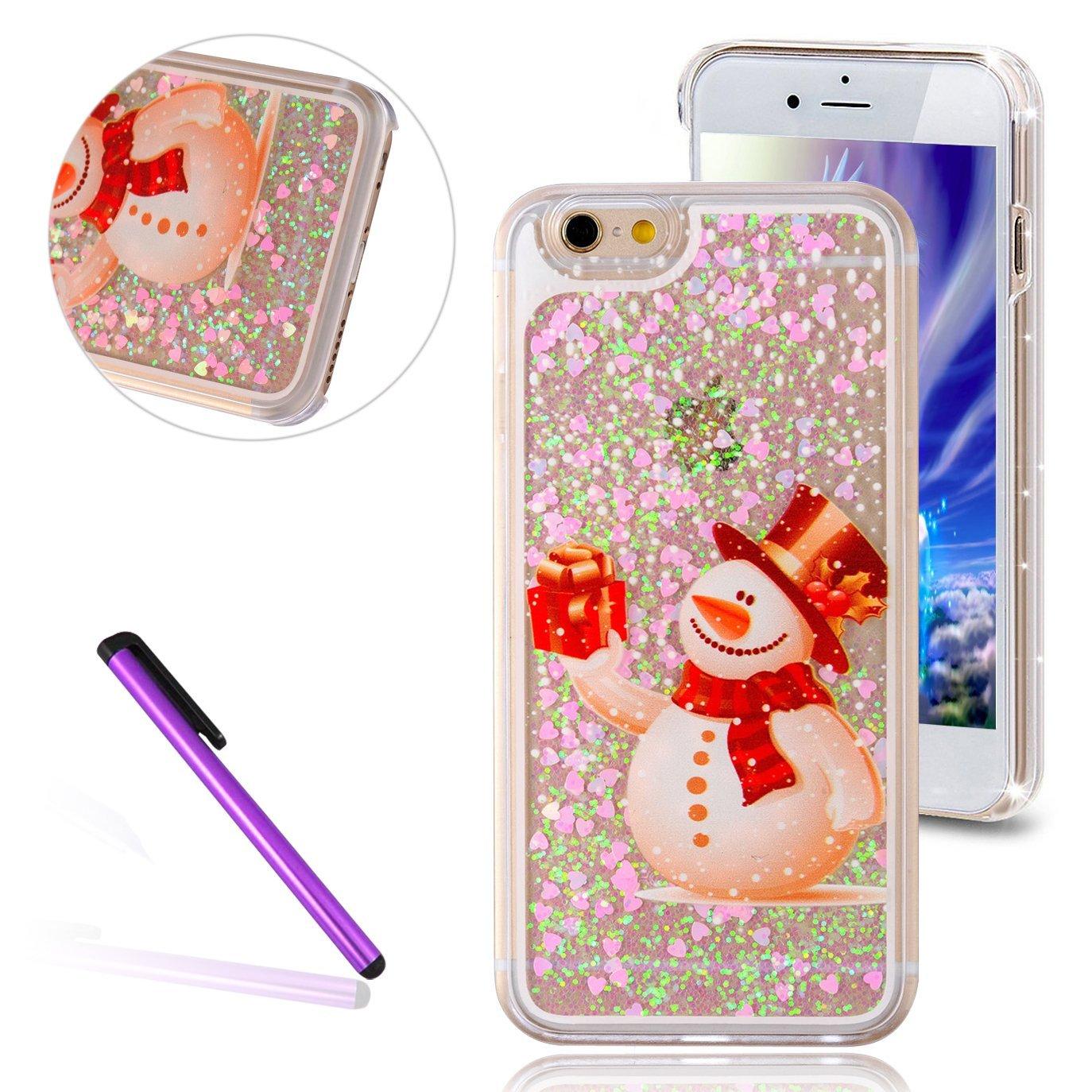 Christmas phone case best glitter gel snowman Galaxy S6 Plus