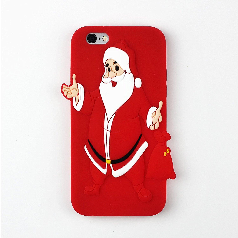 Christmas phone case best 3d santa iphone 6