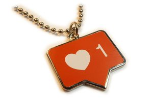 InstaLike Pendant Necklace by Social Media Collectibles