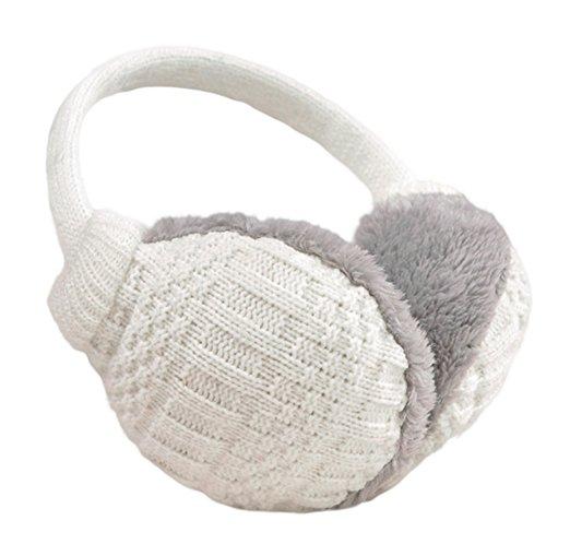 best ear muffs under $10 Amazon knolee white knit