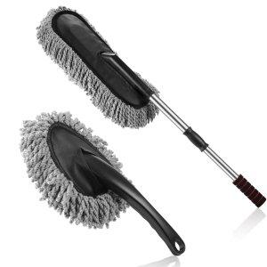 Multipurpose Microfiber Car Duster Brush 2-Piece Kit by Hanrock