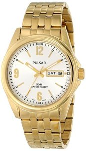 pulsar gold watch