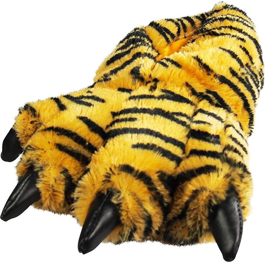 funny slippers under $20 cheap warm feet tiger claws animal paws