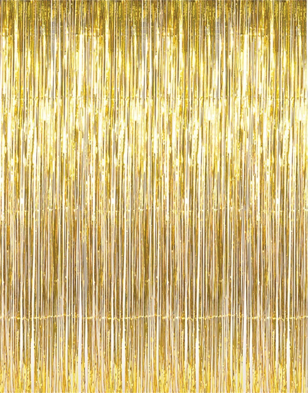 gold tinsel foil backdrop