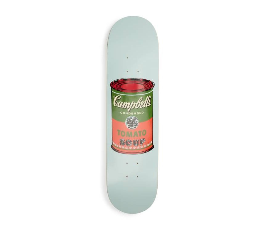 warhol skateboard deck