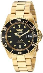 invicta pro diver gold watch