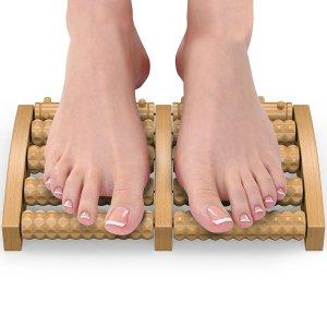Wooden Dual Foot Massager by Gideon