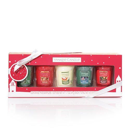 Christmas candles seasonal winter holiday scents yankee votive set