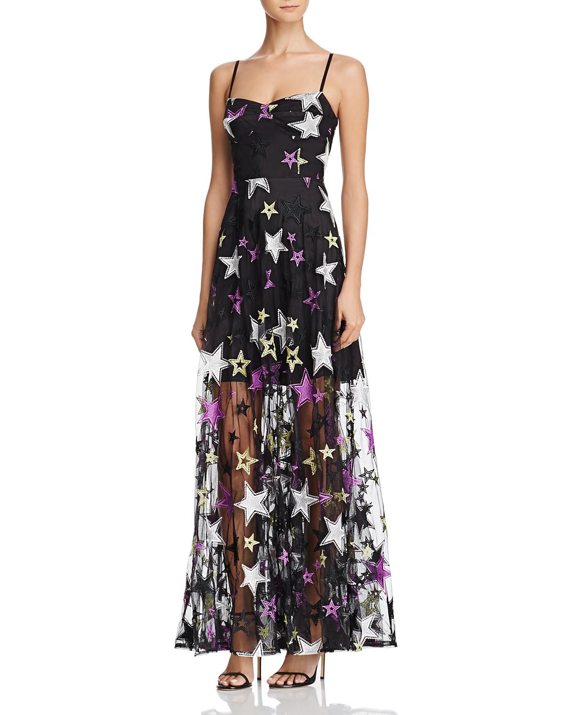 the greatest showman zendaya x aqua capsule collection star print dress
