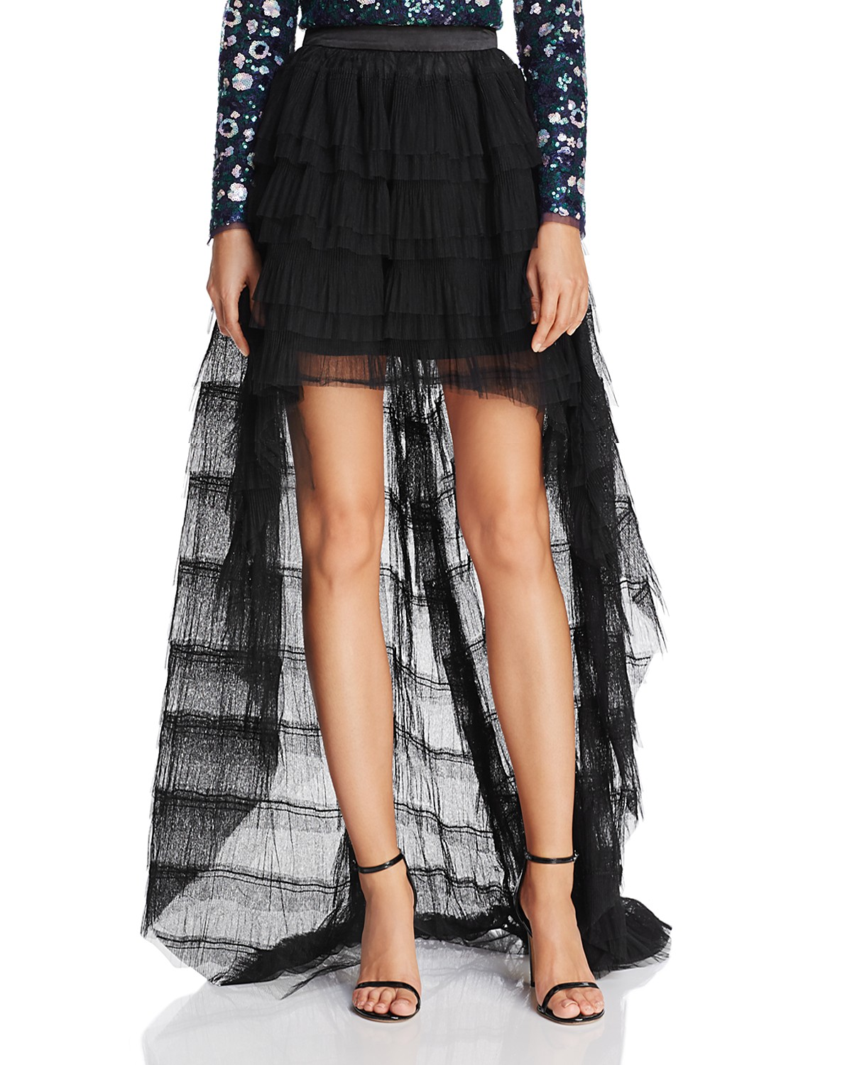 the greatest showman zendaya x aqua capsule collection high low tulle skirt