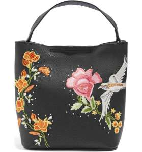 Black Tote Bag Embroidered