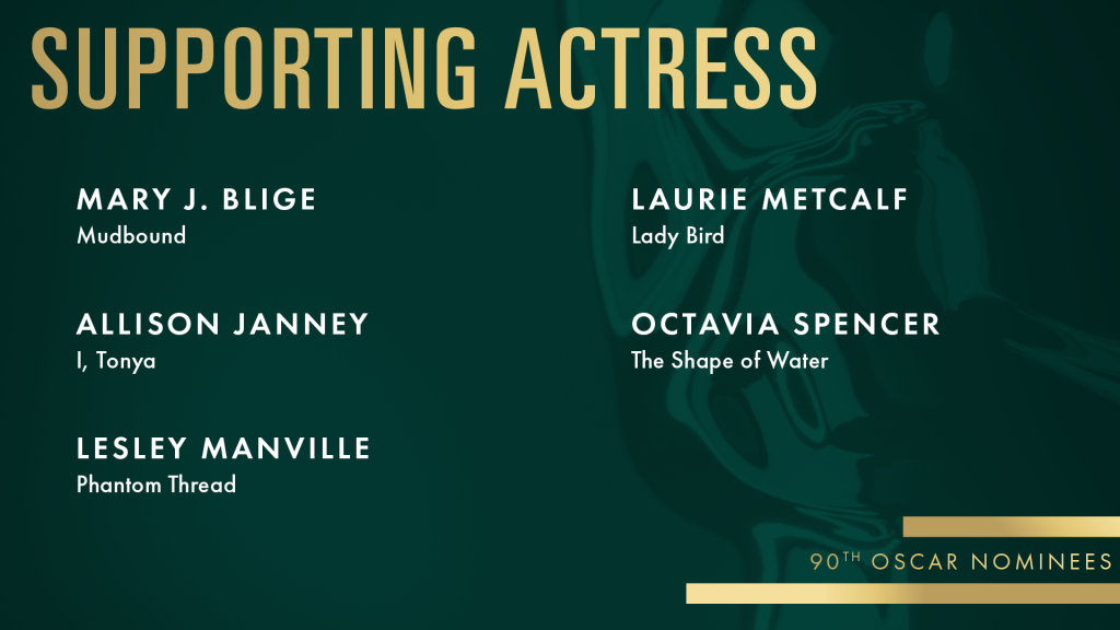 best supporting actress nominees oscars 2018 watch online