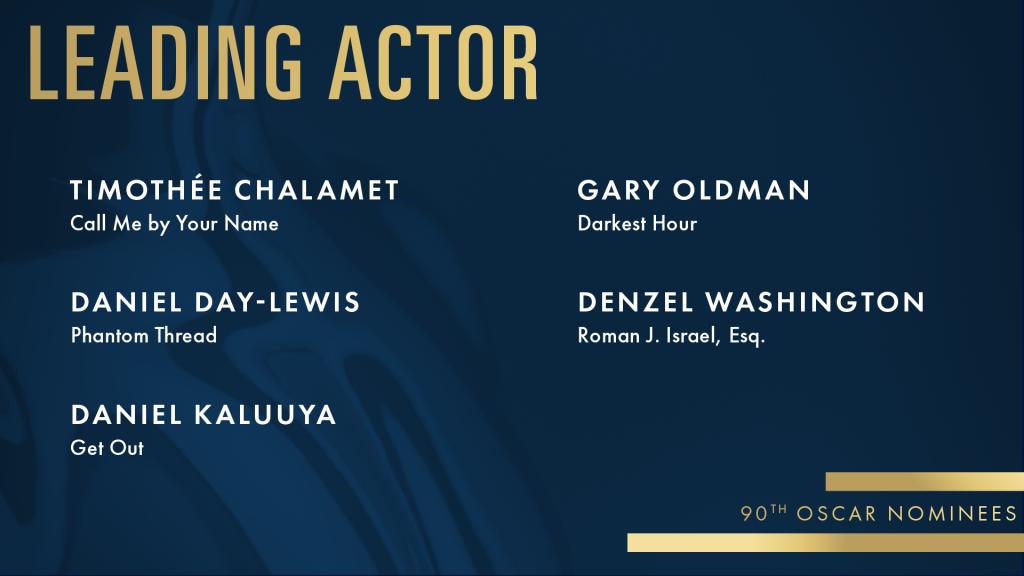 oscars 2018 lead actor nominees watch online