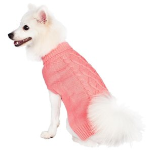 Cable Knit Dog Sweater Blueberry Pet