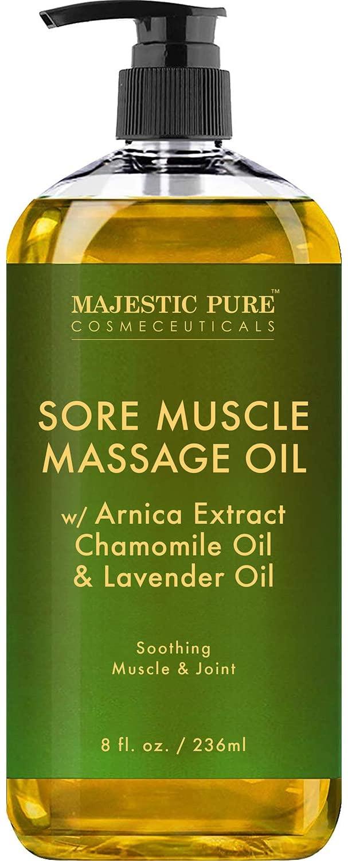 MAJESTIC PURE Arnica Sore Muscle Massage Oil, best massage oil