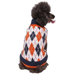 Argyle Dog Sweater Blueberry Pet
