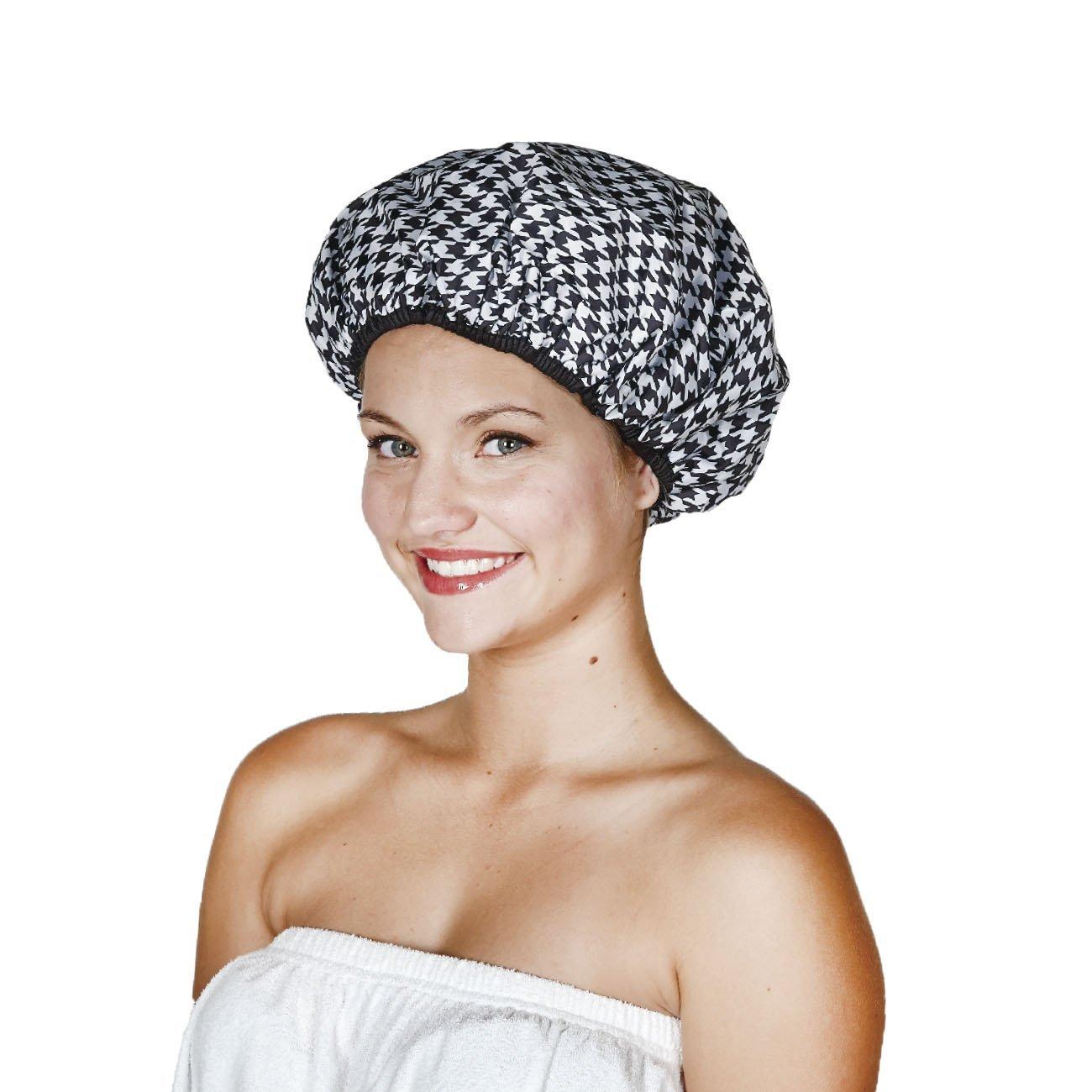 Terry line shower cap blowout