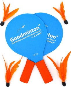 Goodminton paddle game, how to host a healthy super bowl party