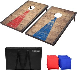 GoSports Cornhole set, how to host a healthy super bowl party