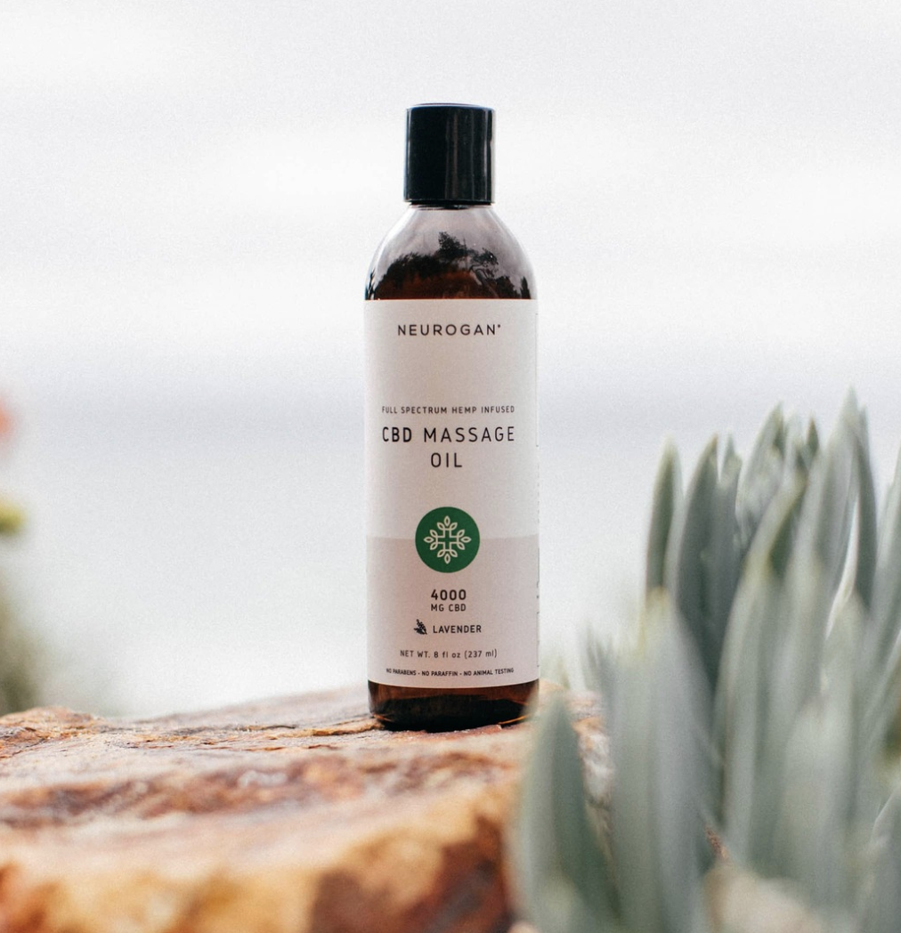 Neurogan CBD Massage Oil, best massage oil