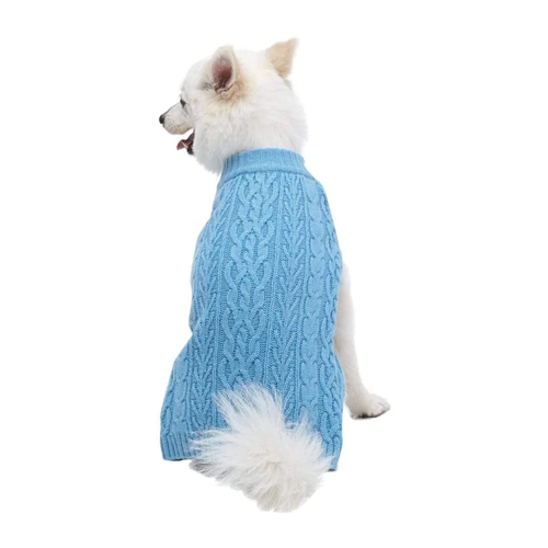 Blueberry Pet Classic Wool Blend Cable Knit
