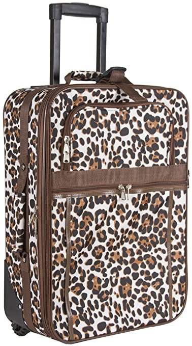 bright luggage how to never lose suitcase animal print rolling