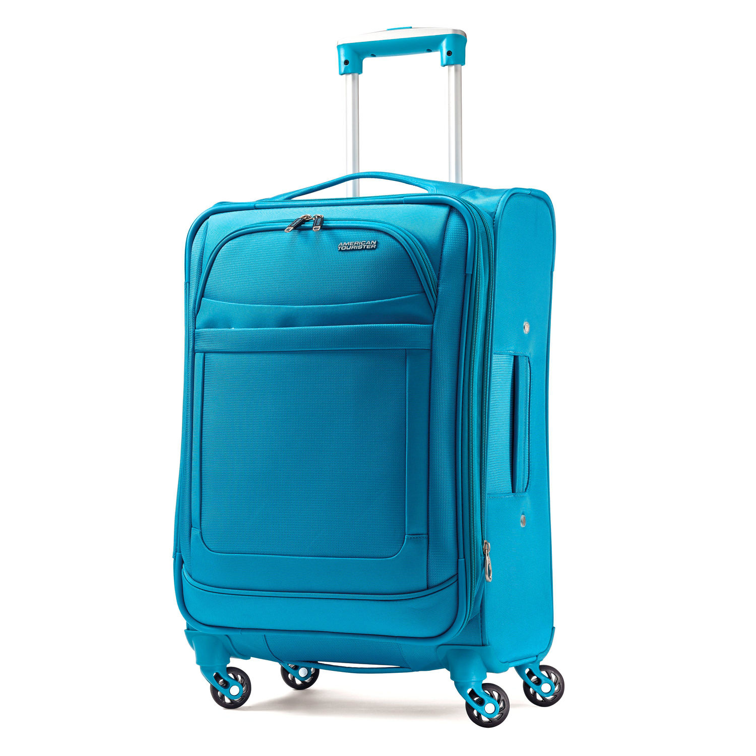 bright luggage how to never lose suitcase blue rolling american tourister