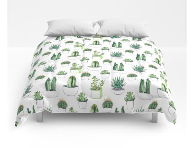 Society 6 Cacti Comforter