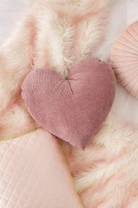 Corduroy Heart Throw Pillow by Urban Outfitters