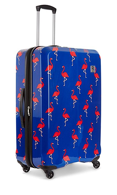 bright luggage how to never lose suitcase hardside flamingo rolling spinner