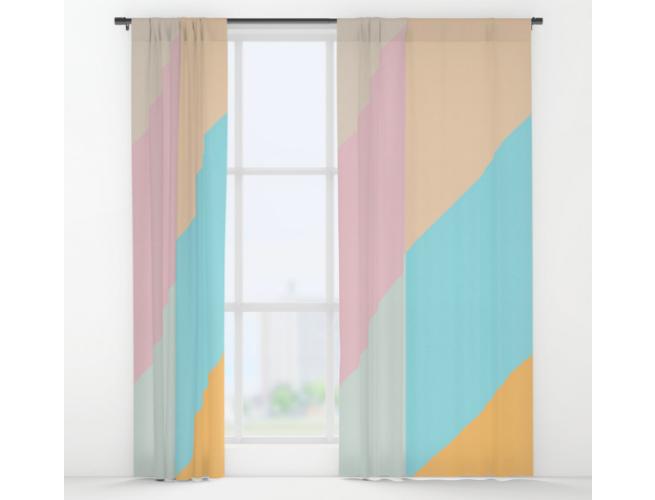 Society 6 Geometric Curtains