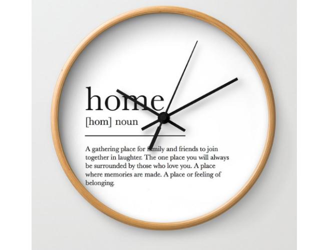 Society 6 Home Clock