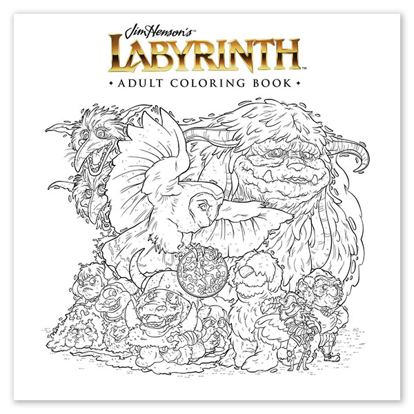 labyrinth movie best gifts fans jim henson coloring book adult