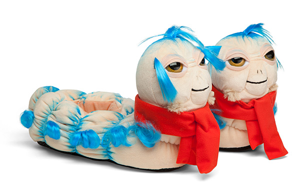 labyrinth movie best gifts fans jim henson 'ello worm slippers
