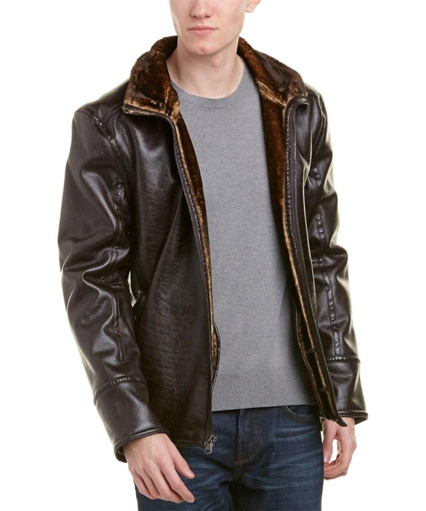 marc new york faux fur leather jacket