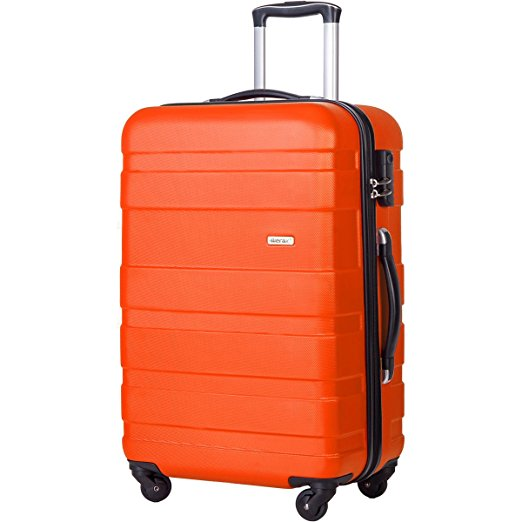 bright luggage how to never lose suitcase merax orange cheap