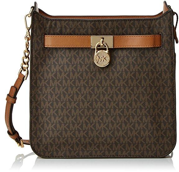 Michael Kors Hamilton Brown Leather Messenger Bag