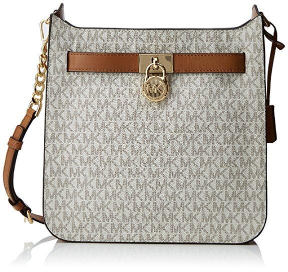 Michael Kors Hamilton Vanilla Leather Messenger Bag